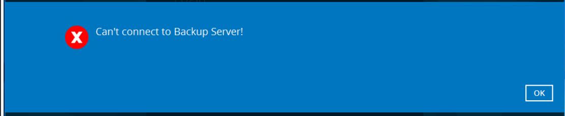 Can't connect to Backup Server! - BOBcloud Backups (desktop